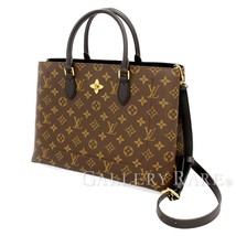 LOUIS VUITTON Flower Tote Monogram Noir 2Way Handbag M43550 Authentic 54... - $2,097.14