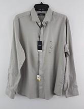 Alfani Men's Chevron Cotton Shirt Tiramisu M - $19.99