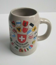 Switzerland Souvenir Mug Stein City Coat of Arms Schweiz Suisse Svizzera... - $22.99