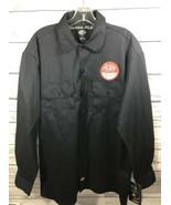 Dickies Button Up Flex Mens Work Shirt Blue Large Long Sleeve NWT - $33.12