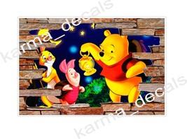 Winnie the Pooh Characters Rock Wall 3D Window Rock Decal Wall Sticker A... - $6.92+