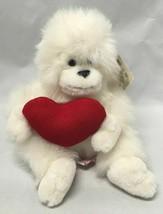 "7"" Russ Plush White Gorilla Ape Plush ""Mongo"" w/Red Valentines Heart & Tag - $9.85"