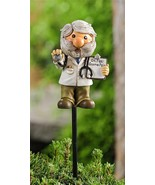 """Set of 2 Adorable Doctor Gnome w Stethascope Plant Garden Pic -  16.9"""" high - $29.69"""