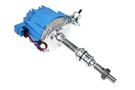 SBF Ford Small Block 260 289 302 HEI Ignition Blue Cap Distributor w/ 65K Coil image 7