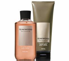 Bath & Body Works Teakwood Body Cream & 2-in-1 - Hair + Body Wash Duo Set - $28.37