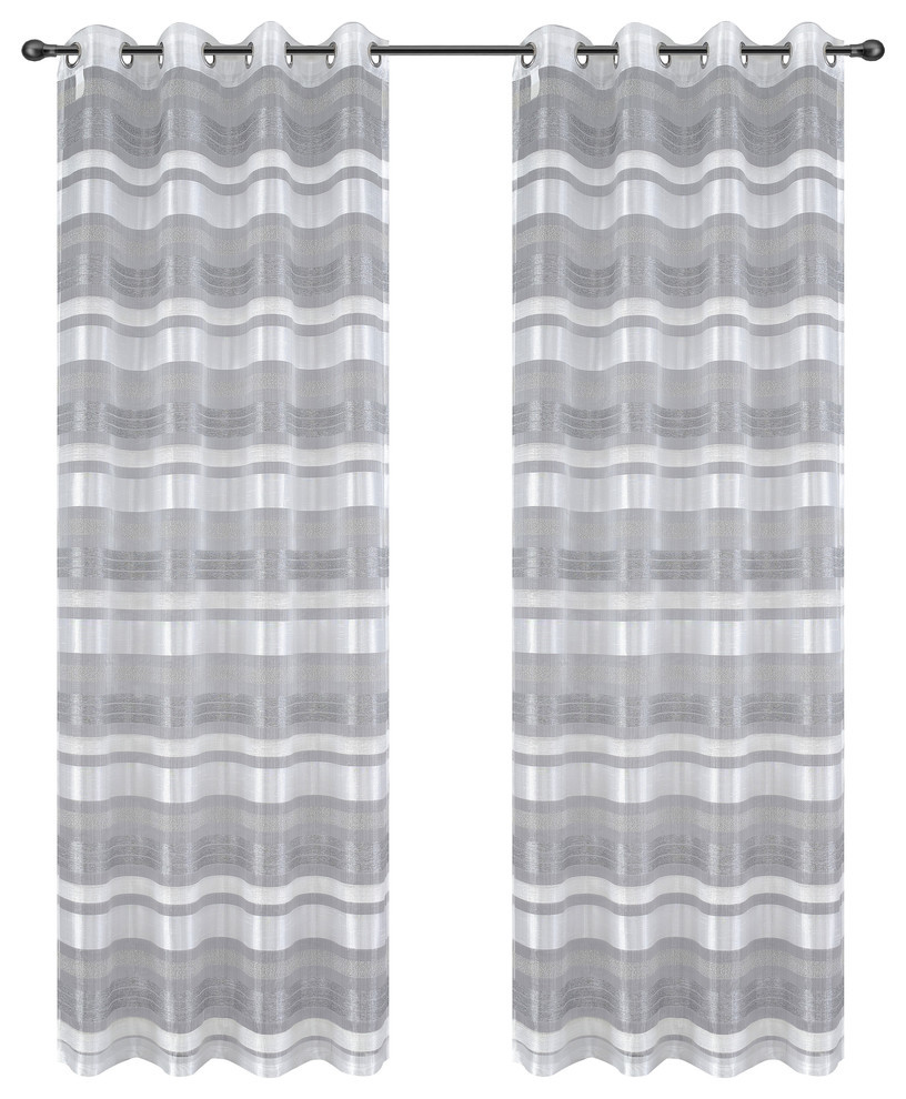 Becca Drapery Curtain Panels with Grommets image 2