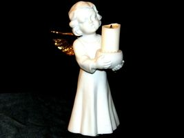 Singing Angel Holding a Candle AA19-1685 Vintage image 4
