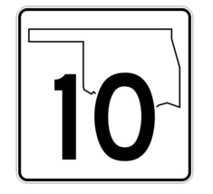 Oklahoma State Highway 10 Sticker Decal R5566 Highway Route Sign - $1.45+