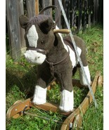 Chrisha Playful Plush Rocking & rolling Horse, 1996 vintage  - $50.00