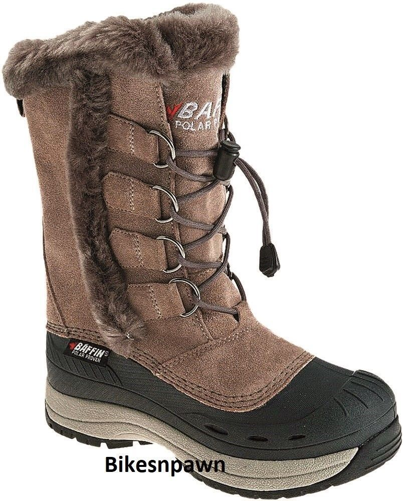 New Ladies Sz 8 Taupe Baffin Chloe Snowmobile Winter Snow Boots -40F Waterproof