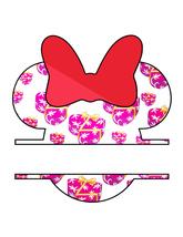 Minnie Heart Pattern 1b-Art Clip-Jewelry-T Shirt-Gift Tag-Scrapbook-banner. - $3.00