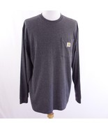 Carhartt Dark Gray Long Sleeve Pocket T Shirt Mens Sz L - $33.72