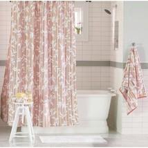 Threshold Pink Vine Silhouette Stripe Shower Curtain - $14.35