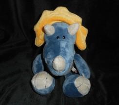 "10"" NICI BLUE & GREY BABY DINO DINOSAUR GERMANY STUFFED ANIMAL PLUSH TOY... - $31.09"