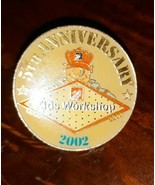 Vintage PINBACK Pin Button 2003 The Home Depot Kids Workshop 5th Anniver... - $4.95
