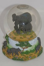 San Francisco Music Box Company Baby Elephant Walk Snow Globe RARE - $47.49