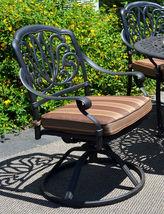 Patio dining set 7pc Elisabeth outdoor cast aluminum oval table Desert Bronze image 3