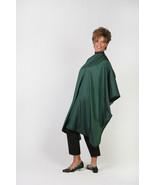 HUNTER GREEN HAIR BARBER STYLIST WATER RESISTANT NYLON CUTTING CAPE LG G... - $24.99
