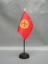 "Kyrgyzstan 4X6"" Table Top Flag W/ Base New Desk Top Handheld Stick Flag - $4.95"