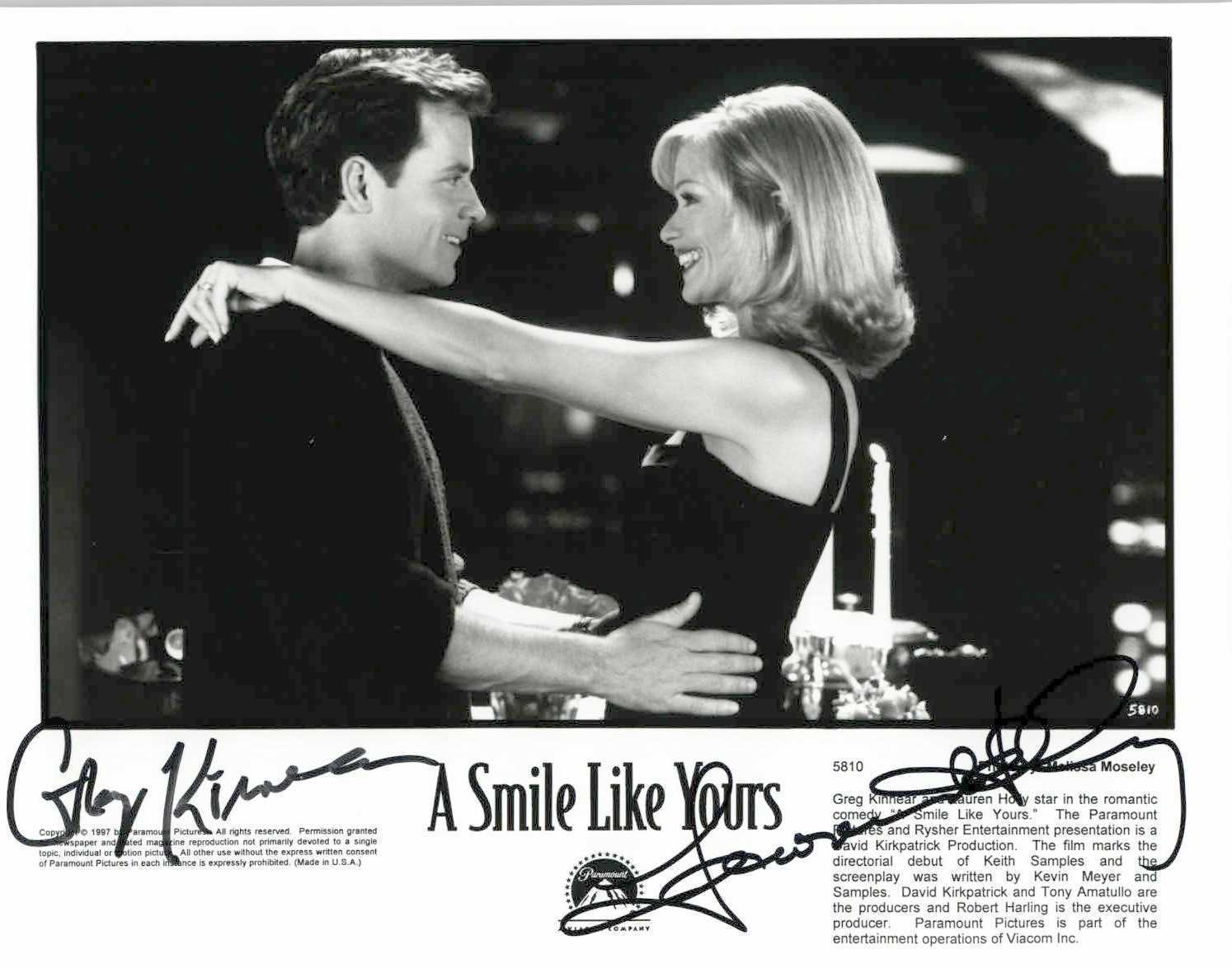 "Primary image for Greg Kinnear & Lauren Holly Signed Autographed ""A Smile Like Yours"" Glossy 8x10"