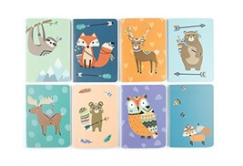 """OOLY 118-183 Pocket Pal Journal Pack of 8, (3.5"""" x 5"""") - Forest Friends - $18.63 CAD"""
