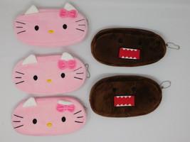 Plush Pencil Sunglass Case Domo Hello Kitty - Lots of 5 - $9.49