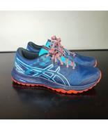 ASICS Gel-Scram 5 Women Size 10 Trail Running Shoes. AmpliFoam. Blue  - $25.74
