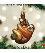 OLD WORLD CHRISTMAS SLOTH TREE-HUGGER ANIMAL GLASS CHRISTMAS ORNAMENT 12523 - $17.88