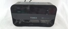 Timex Alarm Clock 24 Hour Set & Forget Alarm Red Display USB Port Nightl... - €12,95 EUR