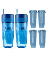 Zerowater 26 oz Portable Filtration Blue Tumbler and 4-Pack Replacement ... - $49.99