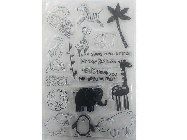 Cute Animals with Sentiments Clear Stamp Set