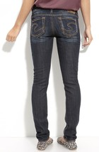New SILVER Jeans Sale Buckle Mid Rise Aiko Dark Skinny Stretch Jean 24 X 31 - $32.69