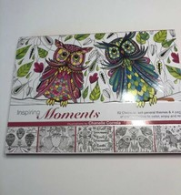 Inspiring Moments-Owls Adult Coloring Book w/Punch Out Crafts - $8.90