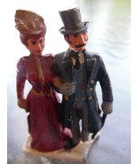 Vintage Cast Iron Victorian Couple Strolling -  Christmas Village Figuri... - $19.80