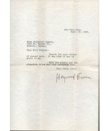 HEYWOOD BROUN Autograph letter, nicely signed - $20.78