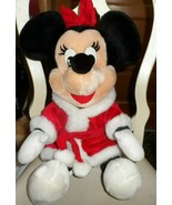 Disney Store Christmas Minnie Mouse plush in red and white dress  - $16.00