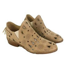 Anthropologie Musse and Cloud Coolsie Ankle Bootie Tan Suede Sz 9 - $46.47