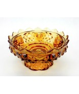 Fenton Art Glass Colonial Amber Hobnail 6 Tapered  Candle Holder Bowl Vi... - $18.57