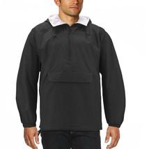 Men's Water Resistant Windbreaker Hooded Half Zip Pullover Rain Jacket image 2