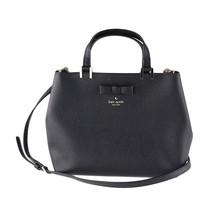 NWT Kate Spade New York Pershing Street GWYN Shoulder Bag Purse Bow Black 5495 - $190.08