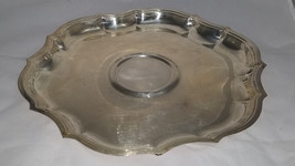 Vintage Silverplate 25th Anniversary 13 Inch Engraved Tray 1942-1967 - $29.95