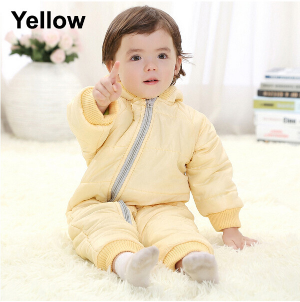 Baby Kid Toddler Boys Girls Winter Padded Onesie Romper Jumpsuit Outfit Snowsuit image 3