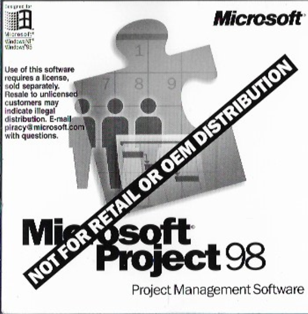 Microsoft Project 98 Project Management Software CD Disc with Key X03-77257 - $13.85