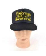 Vtg 80s The Hooters Black White Snapback Trucker Hat Baseball Cap Countr... - $29.69
