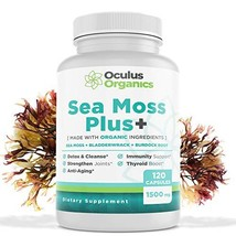 Oculus Organics Sea Moss Plus+ 120 Capsules/1500mg Serving | Sea Moss Organic |