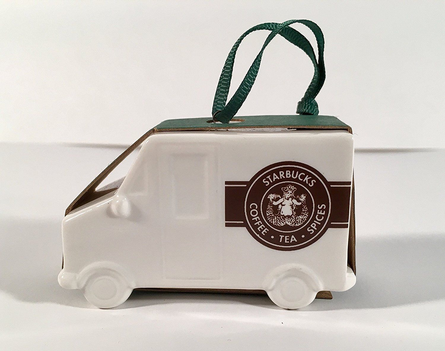 STARBUCKS 2016 DELIVERY TRUCK ORNAMENT CERAMIC NEW