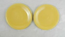 "2 Vintage Homer Laughlin Fiestaware Bread Plates Original Yellow 6-3/8"" - $16.82"