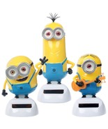Despicable Me Minion set, Bob, Kevin and Stuart Solar Power Figurines in... - $26.99