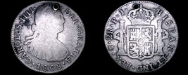 1808-PTS PJ Bolivian 2 Reales World Silver Coin - Charles IIII - Holed -... - $74.99