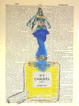 Art N Wordz Genie in A Bottle of Chanel No. 5  Dictionary Page Wall/Desk... - $21.00